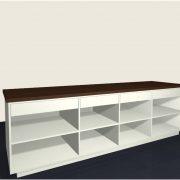 Toonbank Shop 2700 achter voorbeeldindeling